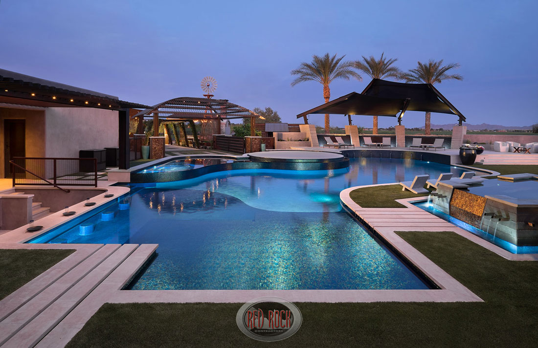 Red Rock Contractors Provide Luxury Pool Design Construction And