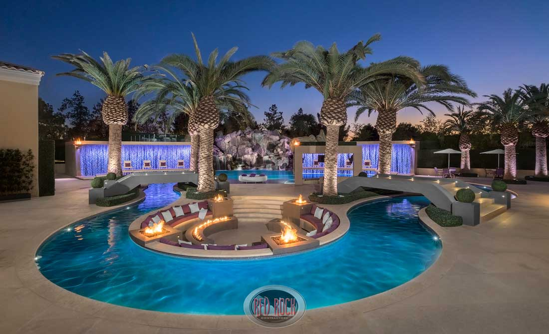 Red Rock Contractors Provide Luxury Pool Design Construction And Custom Home